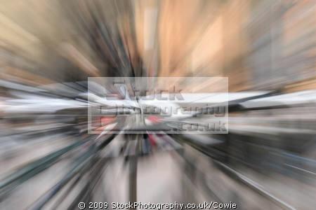 bikes parked street lens effect abstracts misc. glasgow central scotland scottish scotch scots escocia schottland great britain united kingdom british uk grande-bretagne grande bretagne grandebretagne großbritannien gran bretagna bretaña states american