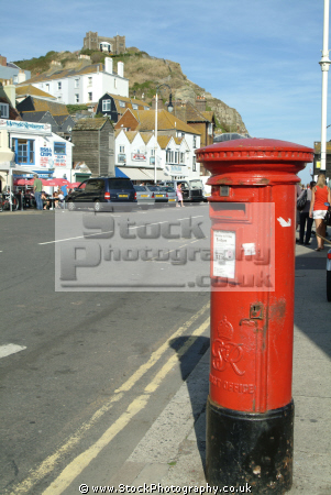 red pillar box postbox hastings post office royal mail uk media communications old town sussex home counties england english angleterre inghilterra inglaterra united kingdom british
