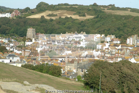 aerial view east hill hastings uk towns environmental sussex home counties england english angleterre inghilterra inglaterra united kingdom british
