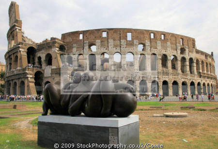 sculpture colosseum rome lazio italian european travel art summer roma roman italy italien italia italie europe united kingdom british