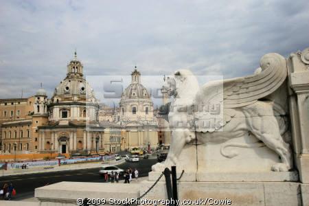 looking victor emmanuel monument rome lazio italian european travel statues domes summer roma roman italy italien italia italie europe united kingdom british