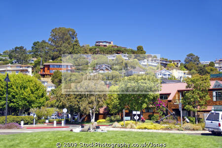 attractive suburb tiburon marin county near san francisco california american yankee travel peninsula headlands californian usa united states america