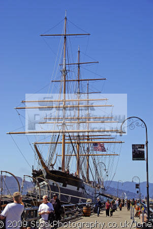 sailing ship balclutha san francisco hyde street pier california american yankee travel bay area fisherman warf waterfront marina embarcadero russian hill powell market californian usa united states america
