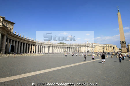 st. peters square vatican rome lazio italian european travel pope religion stonework roma roman italy italien italia italie europe united kingdom british