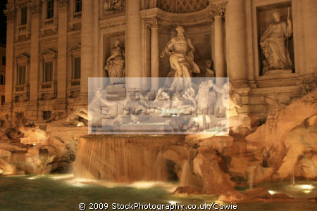 trevvi fountain. rome lazio italian european travel fountain water stonework roma roman italy italien italia italie europe united kingdom british