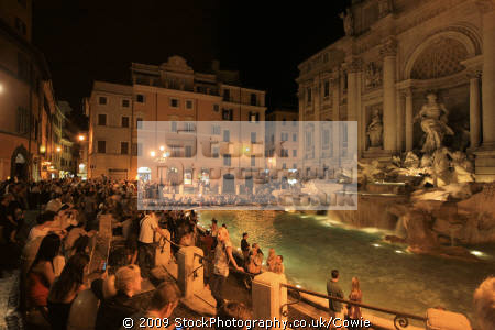 people enjoing trevvi fountain rome lazio italian european travel tourists roma roman italy italien italia italie europe united arab emirates arabian