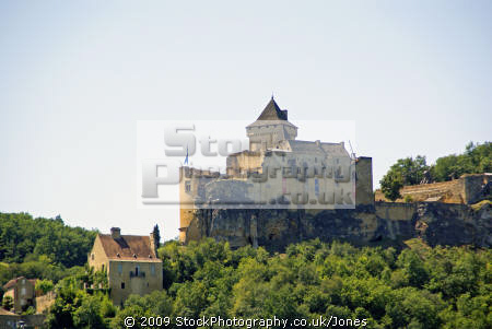 The Chateau At Castelnaud La Chapelle Overlooking The
