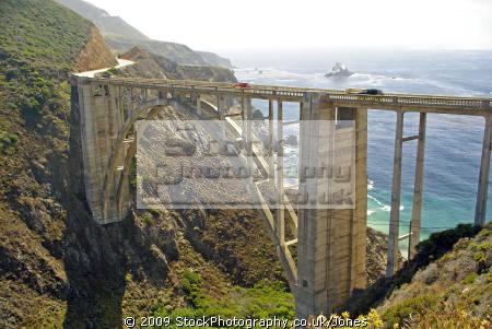 bixby creek bridge california big sur. carmel american yankee travel pacific coast highway sur cabrillo pch californian usa united states america