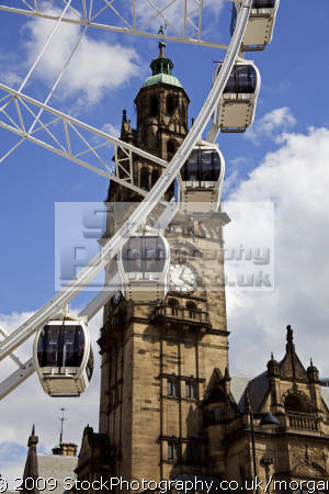 ferris wheel ride fargate city centre sheffield south yorkshire tourist attractions england english uk attraction shoppers temporary angleterre inghilterra inglaterra great britain united kingdom british grande-bretagne grande bretagne grandebretagne großbritannien gran bretagna bretaña