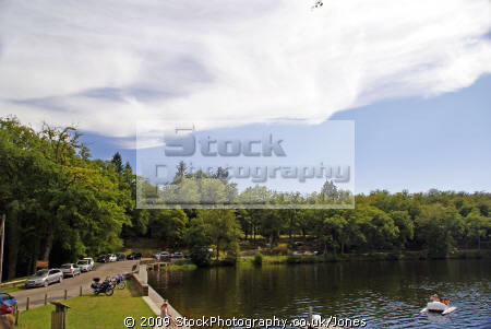 etang ruffaud near correze limousin france french landscapes european travel camping camp-site camp site campsite lac lake resort beach fresh water artificial plage bathing swimming la francia frankreich europe
