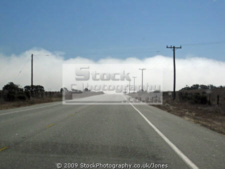 fog obscures road ahead california big sur sky natural history nature misc. weather meteorology cabrillo highway pacific coast pch californian usa united states america american