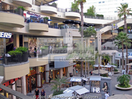 highland mall hollywood los angeles. angeles la california american yankee travel shopping restaurants elephants kodak theater theatre californian usa united states america