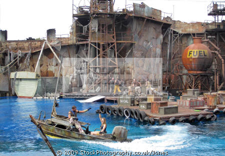 waterworld stunt universal studios hollywood. los angeles la california american yankee travel hollywood theme park tinseltown cinematography production movies film californian usa united states america