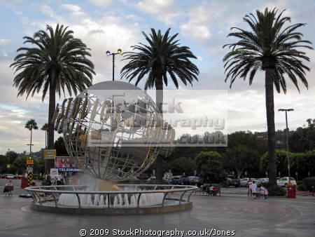 universal studios globe hollywood. los angeles la california american yankee travel hollywood theme park tinseltown cinematography production movies film stunt californian usa united states america