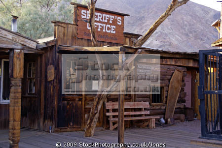 sheriff office calico ghost town california. california american yankee travel western wild west mining minerals californian usa united states america