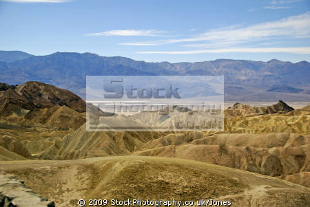 death valley zabriskie point. california american yankee travel state park minerals desert hotest lowest californian usa united states america