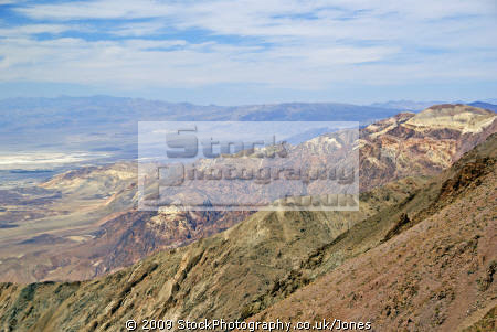 death valley looking north dante view. california american yankee travel state park desert lowest hottest californian usa united states america