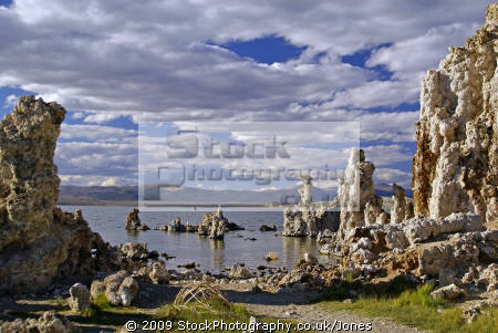 tufa formations south mono lake california. rock geology geological science misc. california calcium carbonate lee vining sierra nevadas saline alkali flies united states american