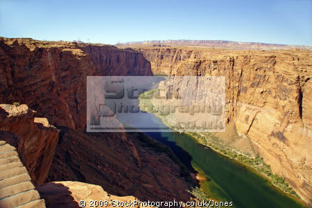 glen canyon colorado river overlook near page arizona. arizona american yankee travel lake powell hydro-electric hydro electric hydroelectric generating electricity renewable usa united states america