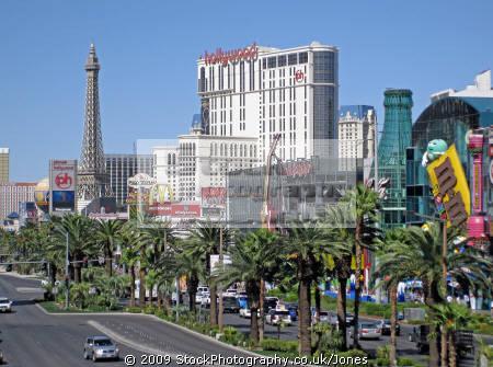 las vegas strip corners walkway american yankee travel paris eiffel tower gambling casinos mormon nevada boulevard tropicana avenue nv usa united states america