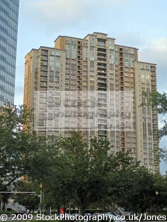 apartment block post oak boulevard houston american yankee travel tx accomodation tower high-rise high rise highrise texas usa united states america