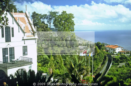 monte palace tropical gardens funchal madeira. portuguese portugese european travel portugal landscaped ornamental madiera europe