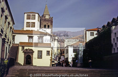 funchal madeira cathedral town centre portuguese portugese european travel portugal architecture traditional square religous religion catholic christian madiera europe