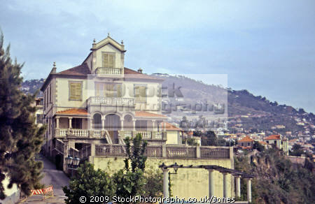 funchal madeira house portugese colonial style. portuguese european travel portugal architecture shuttered traditional residence home accomodation madiera europe