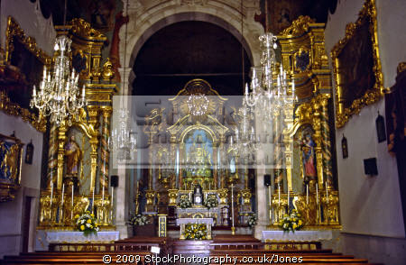 funchal madeira inside church sao maria major portuguese portugese european travel saint santa portugal catholic religion christian religious worship madiera europe