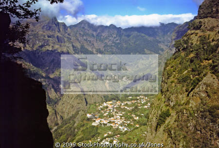 nun valley curral das freiras island madeira. portuguese portugese european travel portugal pirates corsairs hidden protected sheltered madiera europe