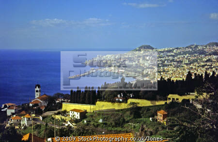 town funchal madeira portuguese portugese european travel portugal landscape suburban suburb coastal madiera europe
