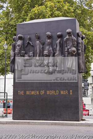 women world war monument whitehall london. uk monuments british architecture architectural buildings sculpture modern remembrance london cockney england english angleterre inghilterra inglaterra united kingdom