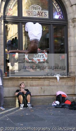 busking break dancing street performers buskers arts misc. public performance united kingdom british