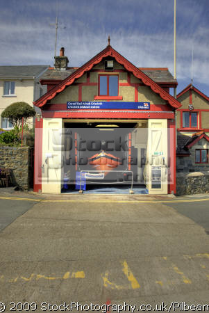 criccieth north wales lifeboat station rnli coastguard rescue uk emergency services boathouse seaside britain united kingdom british
