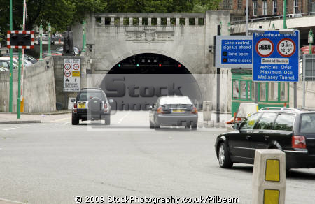entrance birkenhead tunnel liverpool north west northwest england english uk road cars short cut mersey river united kingdom british