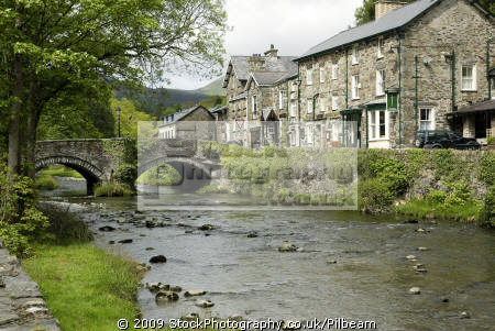 bedgellert north wales village bridge stream rural britain countryside rustic pastoral environmental uk welsh mining town valley united kingdom british
