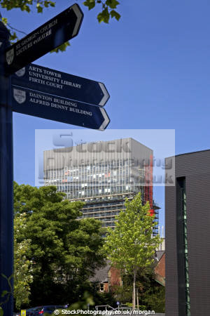 directions university arts tower sheffield south yorkshire british universities education learning educated educating campus pointer building high rise england english angleterre inghilterra inglaterra united kingdom