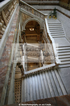 staircase glasgow city chambers. uk government buildings british architecture architectural steps marble central scotland scottish scotch scots escocia schottland united kingdom