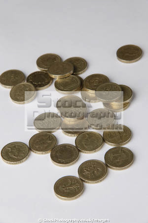 pound coins money currency monetary wealth abstracts cash british gb united kingdom