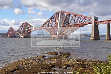 forth bridge south queensferry scotland. uk bridges rivers waterways countryside rural environmental firth river estuary shipping navigation railway trains cantilever engineering west lothian scotland scottish scotch scots escocia schottland united kingdom british