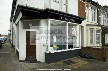 amigos hairdressers delemere road portsmouth uk shops commercial buildings retailers british architecture architectural cut blow dry salon haircut pompey hampshire hamps england english angleterre inghilterra inglaterra united kingdom