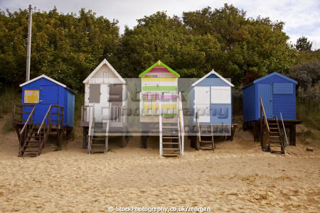 row beach huts wells sea unusual british buildings strange wierd wooden sand colourful holidays seaside norfolk england english angleterre inghilterra inglaterra united kingdom