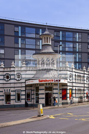 sainsbury local uk shops commercial buildings retailers british architecture architectural nightclub facade preserved listed tiffany sheffield yorkshire england english angleterre inghilterra inglaterra united kingdom