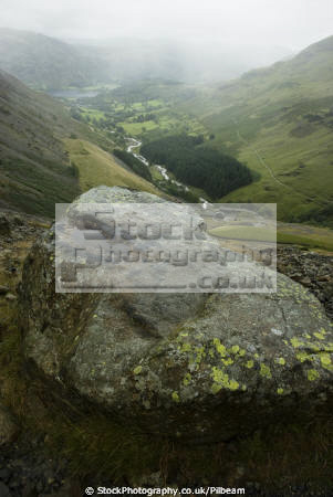 glenridding valley rain storm coming fells looking ullswater lake rural britain countryside rustic pastoral environmental lakes district footpath mist cloud cumbria cumbrian england english angleterre inghilterra inglaterra united kingdom british