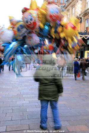 balloon seller human activities busker street vendor glasgow central scotland scottish scotch scots escocia schottland united kingdom british