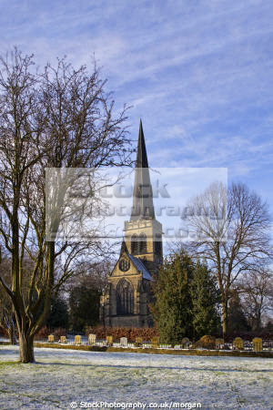 holy trinity parish church wentworth south yorkshire uk churches worship religion christian british architecture architectural buildings village gothic victorian winter snow trees rotherham england english angleterre inghilterra inglaterra united kingdom