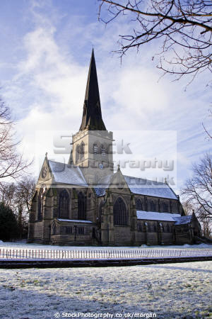 ho trinity parish church wentworth uk churches worship religion christian british architecture architectural buildings village gothic victorian winter snow trees rotherham yorkshire england english angleterre inghilterra inglaterra united kingdom