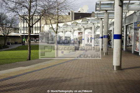 huddersfield 1960s shopping centre uk centres retailers trade centers commercial buildings british architecture architectural shops street britain retail town yorkshire england english angleterre inghilterra inglaterra united kingdom