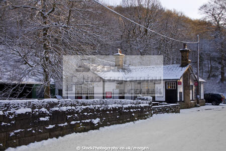 grindleford station cafe derbyshire countryside rural environmental winter snow traditional refreshments peak district england english angleterre inghilterra inglaterra united kingdom british
