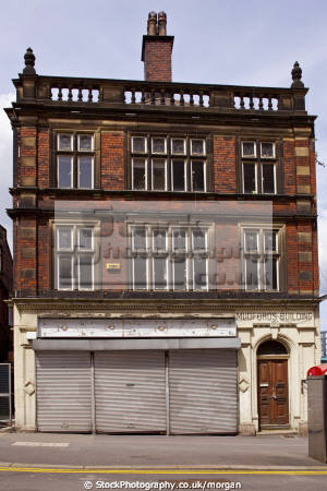 derelict mudfords building sheffield south yorkshire uk shops commercial buildings retailers british architecture architectural old shop 1915 city centre england english angleterre inghilterra inglaterra united kingdom